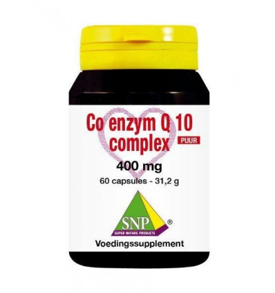 SNP Co enzym Q10 complex 400 mg puur 60 capsules | € 92.39 | Superfoodstore.nl