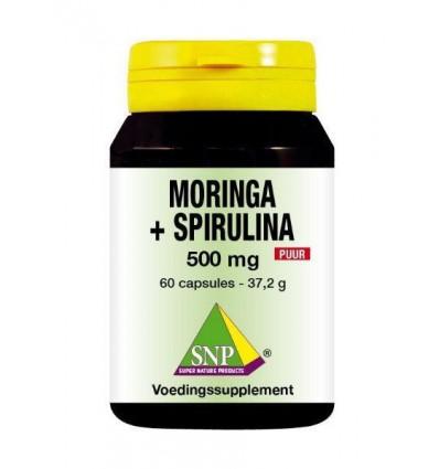 SNP Moringa & spirulina 500 mg puur 60 capsules |