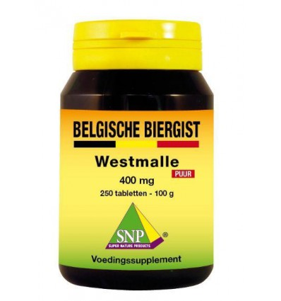 SNP Belgische biergist 400 mg puur 250 stuks | Superfoodstore.nl