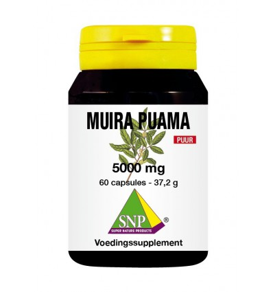 SNP Muira puama 5000 mg puur 60 capsules | Superfoodstore.nl
