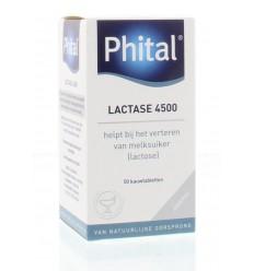 Phital Lactase 4500 50 kauwtabletten | € 10.01 | Superfoodstore.nl