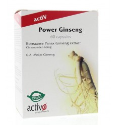 Activo Power ginseng 60 capsules | Superfoodstore.nl