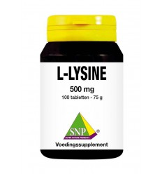 SNP L-lysine 500mg 100 tabletten | € 13.69 | Superfoodstore.nl