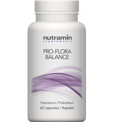 Nutramin Pro flora balance 60 capsules | Superfoodstore.nl