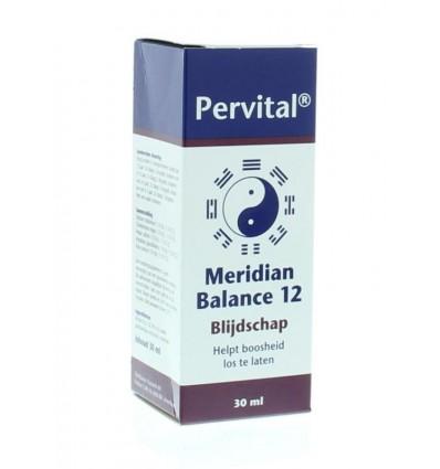 Pervital Meridian balance 12 blijdschap 30 ml | € 21.35 | Superfoodstore.nl