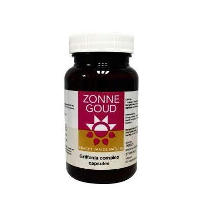 Zonnegoud Griffonia complex 60 capsules | € 18.16 | Superfoodstore.nl