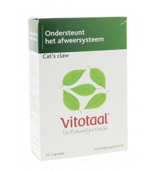 Vitotaal Cat's claw 45 capsules | € 10.00 | Superfoodstore.nl