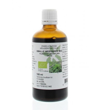 Natura Sanat Plantago lanc / smalle weegbree tinctuur bio 100 ml | € 11.17 | Superfoodstore.nl