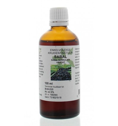 Natura Sanat Sabal serrulata fructus tinctuur 100 ml |