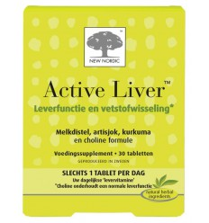New Nordic Active liver 30 tabletten | Superfoodstore.nl