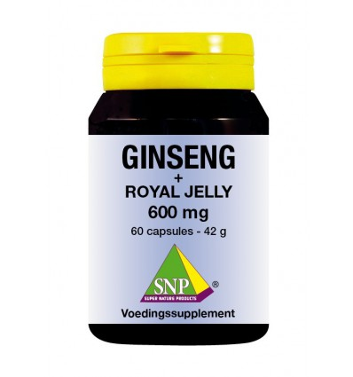 SNP Ginseng + royal jelly 600 mg 60 capsules | € 42.99 | Superfoodstore.nl