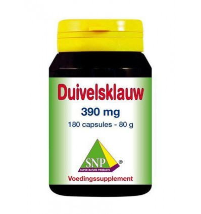 SNP Duivelsklauw 390 mg 180 capsules   Superfoodstore.nl
