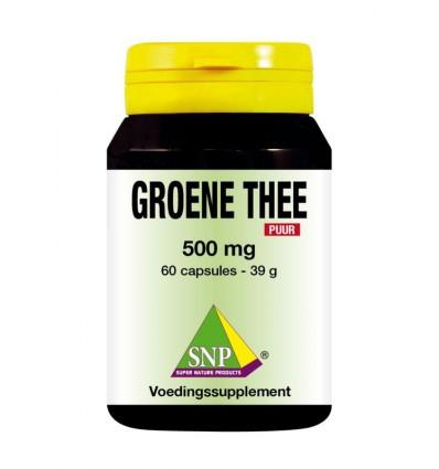 SNP Groene thee 500 mg puur 60 capsules | € 18.99 | Superfoodstore.nl