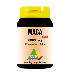 SNP Maca 6000 mg puur 60 capsules | Superfoodstore.nl