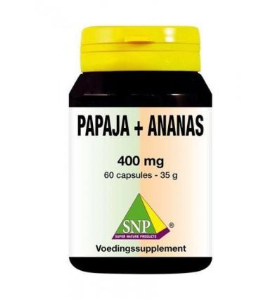 SNP Papaja -ananas 400 mg 60 capsules | € 25.26 | Superfoodstore.nl