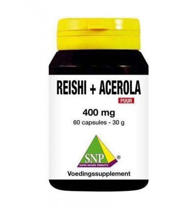SNP Reishi acerola 400 mg puur 60 capsules | Superfoodstore.nl