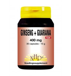 NHP Ginseng guarana 400 mg puur 30 capsules | € 28.97 | Superfoodstore.nl