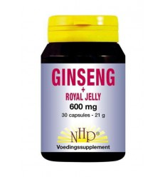 NHP Ginseng royal jelly 600 mg 30 capsules | € 28.97 | Superfoodstore.nl