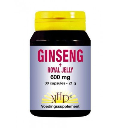 NHP Ginseng royal jelly 600 mg 30 capsules | Superfoodstore.nl