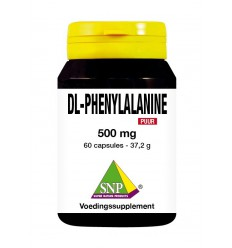SNP DL-Phenylalanine 500 mg puur 60 capsules | € 25.26 | Superfoodstore.nl