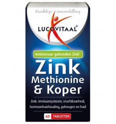Lucovitaal Zink methionine & koper 60 tabletten |