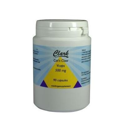 Clark Cats claw 500 mg 90 vcaps kopen