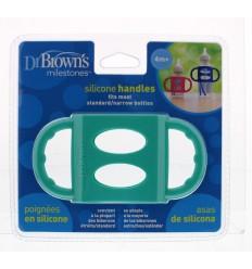 Dr Brown's Siliconen handvat voor standaard hals turquoise |