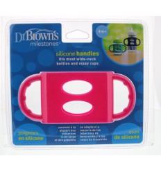 Dr Brown's Siliconen handvat voor brede hals roze |