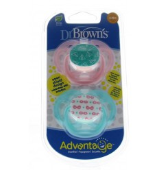 DR Brown's Fopspeen advantage fase 2 roze 2 stuks  
