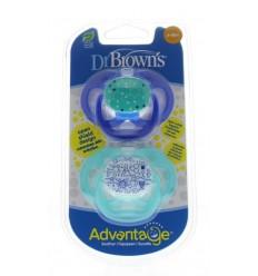 DR Brown's Fopspeen advantage fase 2 blauw 2 stuks  