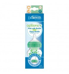 Dr Brown's Options+ bottle to sip startkit br hals 270 groen |
