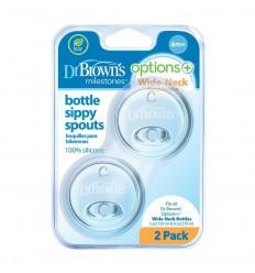 Dr Brown's Options+ sippy spout brede halsfles 2 stuks |