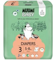 Muumi Baby Eco luiers maat 3 midi 5-8 kg 50 stuks |