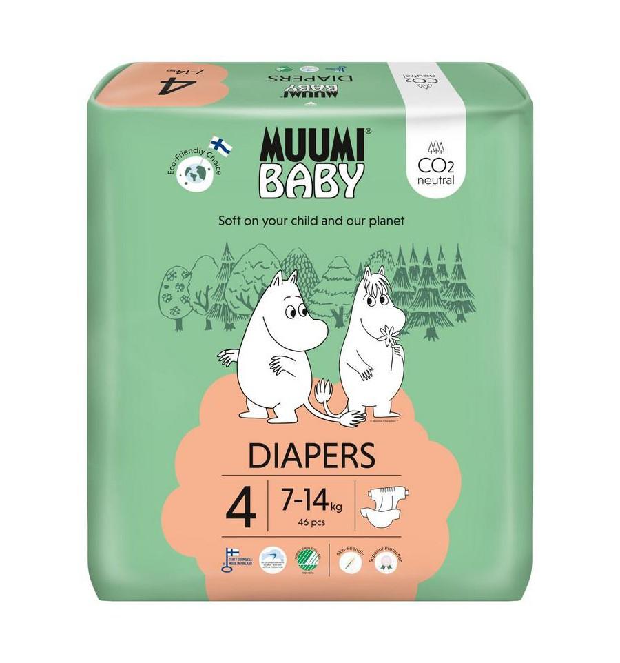 Muumi Baby Eco luiers maat 4 maxi 7-14 kg 46 stuks