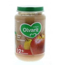 Olvarit Appel peer framboos 12M52 200 gram | Superfoodstore.nl