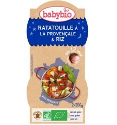 Babybio Ratatouille met rijst 200 gram 2 stuks |