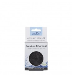 Skoon Konjac spons bamboo charcoal | Superfoodstore.nl