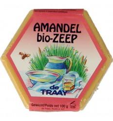 De Traay Zeep amandel olie bio 100 gram | € 2.20 | Superfoodstore.nl