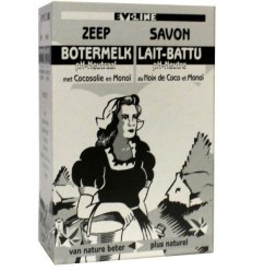 Evi Line Botermelk zeep kokos 100 gram   Superfoodstore.nl