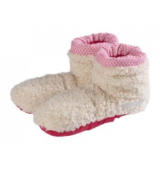 Warmies Slippies boots sherpa beige/roze 37 - 42 1 paar  