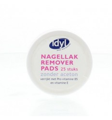 Idyl Nagellak remover pads 25 stuks | Superfoodstore.nl