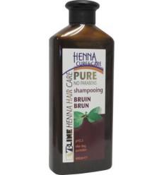 Henna Cure & Care Shampoo pure bruin 400 ml | Superfoodstore.nl