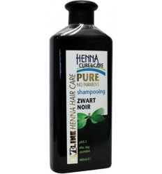 Henna Cure Shampoo pure zwart 400 ml | Superfoodstore.nl