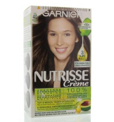 Garnier Nutrisse 4 cacao midden bruin 1 set | Superfoodstore.nl