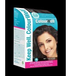 Colourwell 100% natuurlijke haarkleuring mild zwart 100 gram |