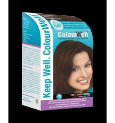 Colourwell 100% natuurlijke haarkleur donker kastanje bruin 100