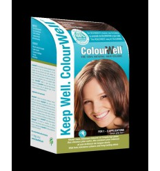Colourwell 100% natuurlijke haarkleuring kastanje bruin 100 gram | € 15.79 | Superfoodstore.nl