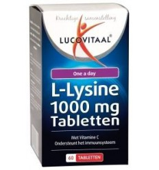 Lucovitaal L-lysine lipblaasje 60 capsules | € 16.19 | Superfoodstore.nl
