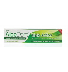 Aloe Dent Aloe dent aloe vera tandpasta triple action 100 ml | € 5.51 | Superfoodstore.nl