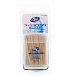 Idyl Tandenstokers extra dun met fluoride en mintsmaak 120